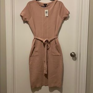 Torrid Belted Sweater Dress - Size 00 - blush pink